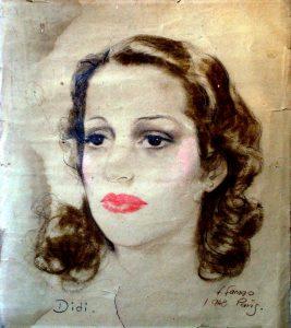 Kreidezeichnung Junge Frau, 1948
